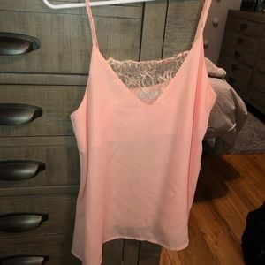 Blush pink flowy tank top